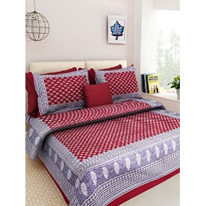 Rajasthani Bed Sheet Cotton Double Bed Offer Double Bedsheet With 2 Pillow Covers