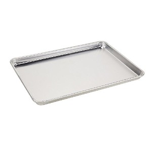 Foodservice Essentials HBP12-1 Heavy Duty 12-Gauge 26 by 18-Inch Sheet Pan (Full Size, Aluminum) by...