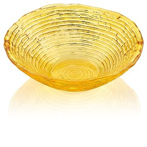IVV Glassware Multicolor Collection Dessert Bowl, 6-1/4-Inch, Amber Decoration