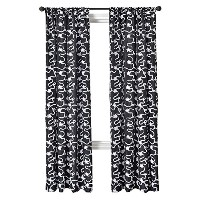 Diplomat Decor Blake Rod Pocket Panel, 84-Inches, Black White