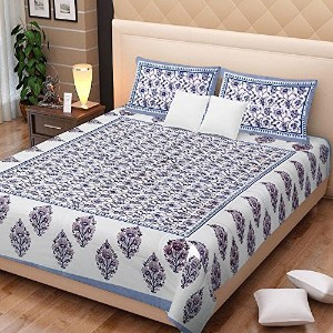 Cotton King Size Bedsheet With 2 Pillow Cover