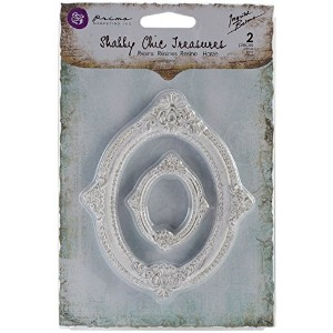 Prima Marketing Shabby Chic Treasures Resin, Victorian Frames, 2-Pack