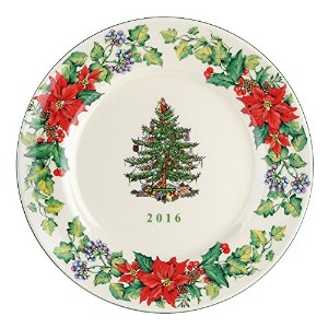 Spode Christmas Tree 2016 Annual Edition Collector Plate, Multicolor