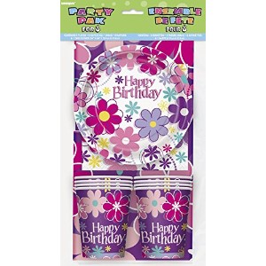 Blossom Birthday Party Tableware Kit for 8