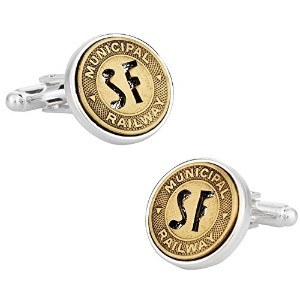 San Francisco Transit Subway Token Cufflinks