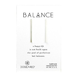 (ドギャード) DOGEARED Balance Medium Square Bar Stud Earrings