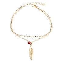 Feather Leave Barefoot Anklet For Women