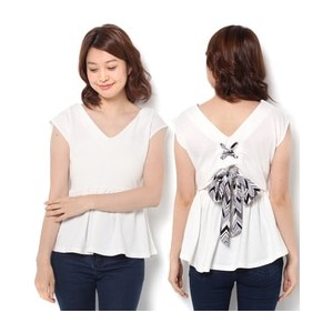 CECIL McBEE(セシルマクビー)バックリボンTOPS312530947【セシルマクビー/CECIL McBEE Tシャツ・カットソー】