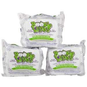 Boogie Wipes Gentle Saline for Stuffy Noses Simply Unscented - 30 Count, by Boogie Wipes