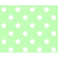SheetWorld Fitted Pack N Play (Graco) Sheet - Pastel Green Polka Dots Woven - Made In USA by...
