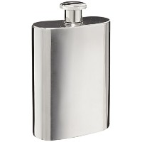 Visol Titan Stainless Steel Liquor Flask, Large, 32-Ounce, Chrome by Visol