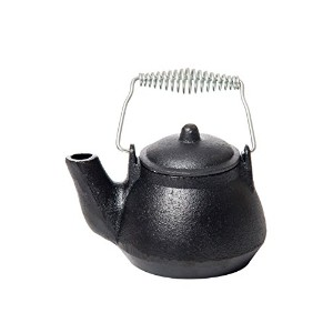 Old Mountain Mini Tea Kettle, 1.5 Cups, Silver/Wood Handle by Old Mountain Cast Iron Cookware