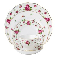 Royal Albert New Country Roses White Vintage Formal Place Setting, 5-Piece by Royal Albert