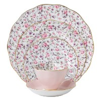 Royal Albert New Country Roses Rose Confetti Vintage Formal Place Setting, 5-Piece by Royal Albert