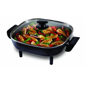 Rival CKRVSK11 11-inch Square Non Stick Electric Skillet, Cast Aluminum by Rival
