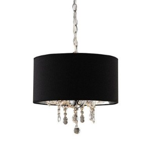 Whse of Tiffany RL9689 Brim 3-Light Crystal Chandelier by Whse of Tiffany