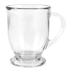 Anchor Hocking Glass 16 Ounce Cafe Mug, Set of 2 by Anchor Hocking