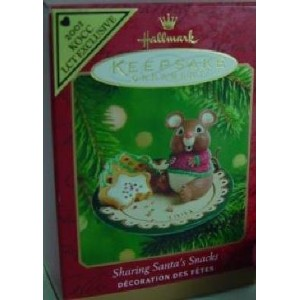 Sharing Santa's Snacks COLORWAY 2001 Hallmark Keepsake Ornament by Hallmark [並行輸入品]