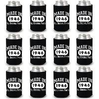 shop4ever ® Made in 1946Can Coolie誕生日ドリンククーラーCoolies ブラック