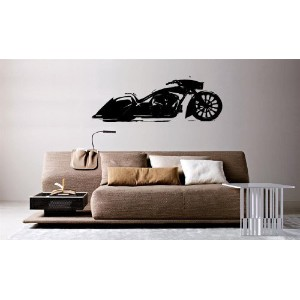 Wall Mural Vinyl Sticker Decal Decor Motorcycle Bike Chopper al819 by VSGraphics LLC