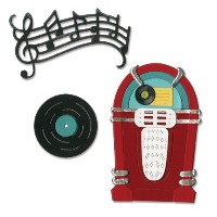 Sizzix Thinlits Dies 11/Pkg-Juke Box & Music (並行輸入品)
