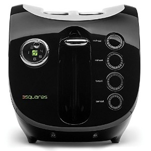 3 Squares Wide Slot 2-Slice Cool-Touch Toaster with Silicone Cover, Black [並行輸入品]