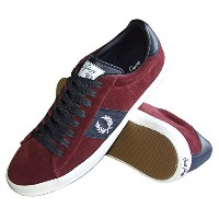 【FRED PERRY 】【フレッドペリー】 Howells Fred Perry Suede Leather Shoe スウェード レザー シューズ B5256-106 MAROON(28.0cm)