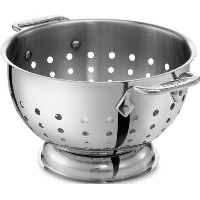 All-Clad 5605C Stainless Steel Dishwasher Safe Colander Kitchen Accessorie. 5-Quart, Silver by All...