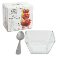 Libbey 56161 Just Desserts Square Bowl by Libbey