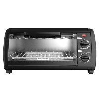 Black & Decker TO1412B 4-Slice Toaster Oven, Black by BLACK+DECKER