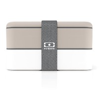 monbento MB Original Bento Box, Grey/White by monbento