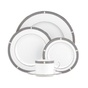 Lenox Sophisticate 5-Piece Place Setting, Silver by Lenox