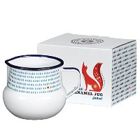 Wild and Wolf Folklore White Milk Enamel Jug 500ml by Folklore