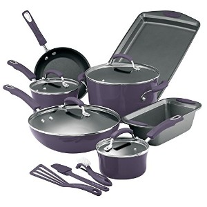 Rachael Ray Purple Cookware Set Pots Pans 14 Pieces by Rachael Ray