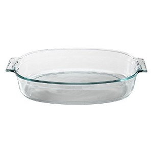 Pyrex 4 Quart Glass Roaster by Pyrex