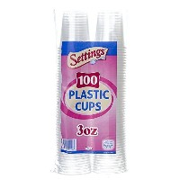 Setting 3 Oz. Disposable Plastic Cups (100 Ct) 300 Cups Total by Settings