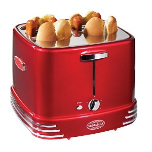 Nostalgia RHDT800RETRORED Retro Series 4-Slot Pop-Up Hot Dog Toaster by Nostalgia