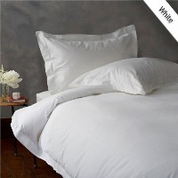 TWIN 600TC WONDERFUL 100# EGYPTIAN COTTON 1PC DUVET COVER,WHITE SOLID by BedDecor