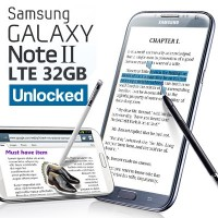 Super Time Sale!]Samsung Galaxy Note II(32GB) 4G LTE (UNLOCKED)[refurbish]/1.6GHz Quad Core/5.5...