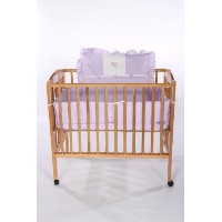 Baby Doll Bedding Gingham with Elephant Applique Mini Crib/ Port-a-Crib Bedding Set, Lavender by...