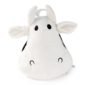 Trumpette Howdy Plush Backpack, White/Black, 36-72 Months by Trumpette