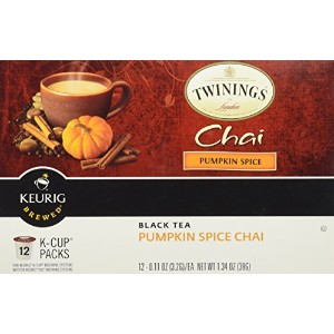 Twinings, Keurig Brewed, Black Tea, Pumpkin Spice Chai, 12 K-Cup Packs