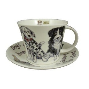 Roy Kirkham犬at HomeジャンボTea Cup and Saucer Set