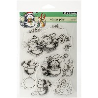 "Penny Black Clear Stamps 5""X7.5"" Sheet-Winter Play (並行輸入品)"