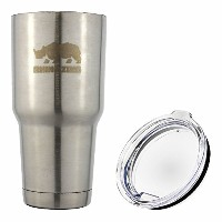Travel Insulated Coffee Mug Stainless Steel Tumbler 30 Oz by Rhino Zing