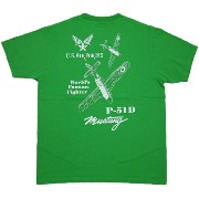 """BUZZ RICKSON'S (バズリクソンズ) P-51 MUSTANG S/S T-SHIRT """"P-51 WORLD'S FAMOUS FIGHTER"""" (半袖バックプリントTシャツ)..."""