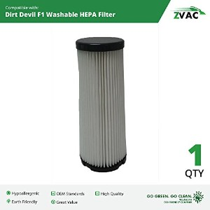 ZVac Dirt Devil f1 Washable HEPAフィルタ3jc0280000 1 Pack Z_F14