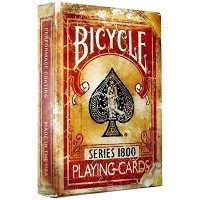 Bicycle 1800 Vintage Playing Cards by Ellusionist - Red - High Quality Finish