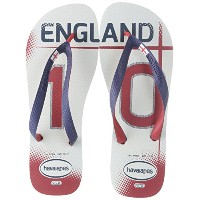 Havaianas ビーチサンダル ? England Football Club Teams Ii 白/Navy 青 43/44