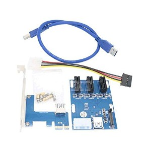 PO Sourse PCI-E to PCIe riser card 1 drag 3 PCI-E to PCIe 1X interface expansion card 3 PCIe slot ...